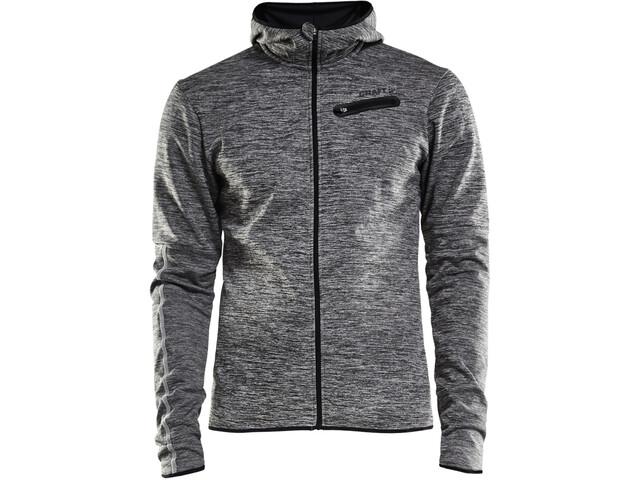 Craft Eaze Jersey Hood Jacket Herr black melange